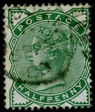 SG164, ½d deep green, USED. Cat £22.