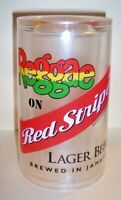 "RARE 6 "" INCH REGGAE RED STRIPE LAGER BEER ADVERTISING PLASTIC INSULATED MUG"