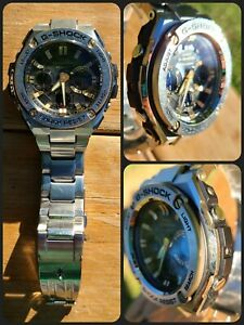 CASIO Watch G-SHOCK GST-S110D-1A9 STAINLESS EUC!! So nice!!! NO RSRV!!!!