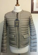 WOOLRICH Women's Printed Quilted Collarless Down  Jacket Beige Size L NEW