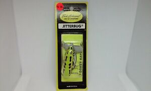 """Fred Arbogast JITTERBUG SEEIN'S BELIEVIN' Green Frog 2 1/4"""" Topwater Lure NOS"""