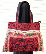 Thai Hmong Tribe Unique Shoulder Bag Hippie Hobo Handmade Red Bird Embroidered