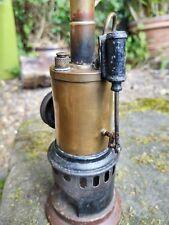 Vertical Boiler Steam Engine  Antique Single Cylinder Bing