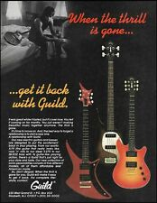 Guild X-79 electric guitar & SB-202 bass 1982 advertisement 8 x 11 ad print