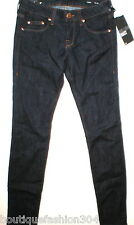 New Womens NWT William Rast Designer Jeans 24 Skinny Dark Rome Made in USA