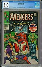 Avengers 54 CGC 5.0 1st app Ultron Pym - Crimson Cowl 1st New Masters of Evil