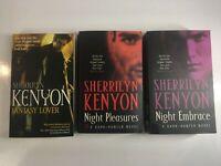 3x Dark Hunter Books Fantasy Lover Night Pleasures Embrace by Sherrilyn Kenyon