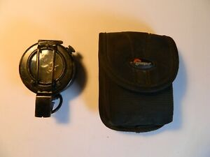 Prismatic marching compass Francis Barker Mils Mk I and Lowepro pouch