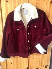 Atmosphere Corduroy Red Jacket Size 16
