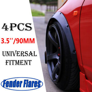 """4Pcs 3.5""""/90mm Car Fender Flares Extra Wide Body Wheel Arches For Jeep Wrangler"""