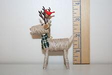 Hallmark Ornament - Rustic Reindeer - Birch Logs - Cardinal - 2015