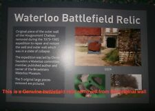 More details for waterloo battlefield smaller piece hougoumont wall recovered during restoration