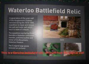 Waterloo Battlefield smaller piece Hougoumont wall recovered during restoration