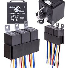 5Pack OLS 12V 60/80 Amp Relay Switch Harness Set HEAVY DUTY 5Pin SPDT Autom