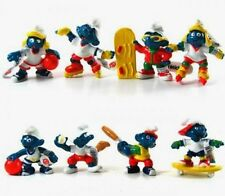 The Smurfs Sporty Costume Character Figures Lot of 8pcs Rare AU NEW