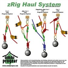 zRig Rope Haul System 2 to 1 & 3 to1 Mechanical Advantage with Progress Capture