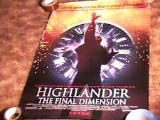 HIGHLANDER 3 MOVIE POSTER CHRISTOPHER LAMBERT