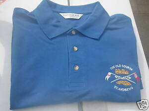 SCOTLAND GOLF POLO SHIRT OLD COURSE ST ANDREWS IN ROYAL