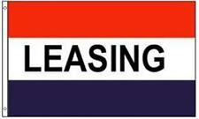 LEASING Red White Blue RETAIL BUSINESS MESSAGE Flag 3x5 ft NYLON Made in USA