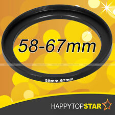 58mm to 67mm 58-67 mm Step-Up Male to Female Coupling Lens Filter Ring Adaptor