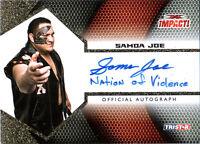 TNA Samoa Joe INSCRIBED 2009 Impact GOLD Authentic Autograph Card SN 52 of 60