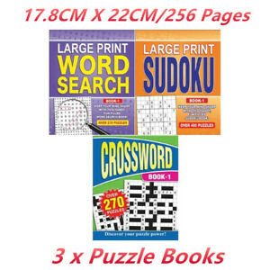 3 x Jumbo Kids Puzzle Game Book Educational Learning School 256 Pages Challenge