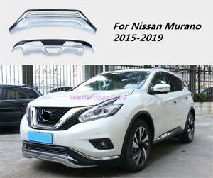 Car Front+Rear Bumper Board Guard Turbo Lip Protect For Nissan Murano 2015-2019