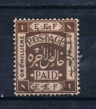 JORDAN 1923 SC#73B MH GOLD OVERPRINT VERTICAL CENTER DOWN PALESTINE OVP 1918