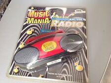 1996 Dsi Toys Rare #Nrfb Mini Boom Box Radio Am Fm Sealed Mini Stereo
