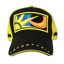 Official VR46 Valentino Rossi Paddock Motorcycle Motorbike Cap - Black Yellow