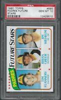 1980 Topps San Diego Padres Future Stars Tim Flannery #685 PSA 10 GEM MINT SET
