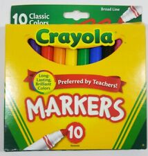 Crayola Broad Line Drawing/Coloring Markers Pack of 10 Classic Colors