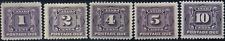 Canada #J1-J5 mint F-VF/VF OG 1906-1928 First Postage Due Issue Set CV$310.00