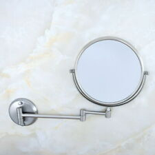 Brushed Nickel Bathroom Shaving Beauty Makeup Magnify Mirror Dual Side fba636