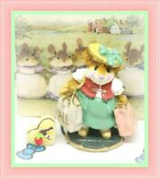 ❤️Wee Forest Folk M-264 Mall Mom 2001 Zelda's Green Skirt Hat Bow Mouse❤️