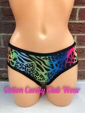 Pole Dance Rave Wear Hot Pants Rainbow Animal Print ⭐️SALE⭐️