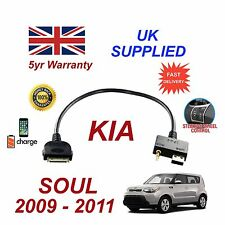 For KIA Soul iPhone 3 3gs 4 4S iPod USB & 3.5mm Aux Audio Cable MY 2009-11