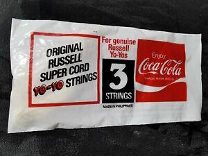 BRAND NEW SEALED - genuine russell super cord yo yo strings 3 pack Coca-Cola