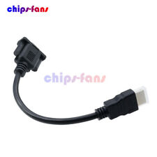 1080P HDMI Male To VGA Female Video Adapter Converter Cable For HDTV PC CF