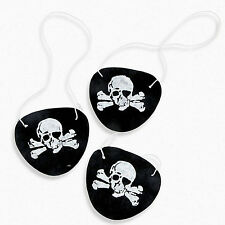 12pk Felt Black Skull Pirate Eye Patches Birthday Party Favors Kids Costumes