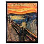 Edvard Munch The Scream Old Master Painting 12X16 Inch Framed Art Print