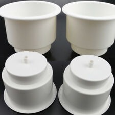 4PCS Two Tiered White Plastic Cups Drink Can Holder Boat RV pontoon Superior