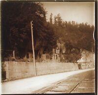 Brantome Dordogne Francia Placca Da Lente Stereo Positive Vintage