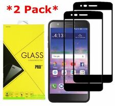 2X For [LG REBEL 4 LTE] [REBEL 3 LTE] Full Cover Tempered Glass Screen Protector