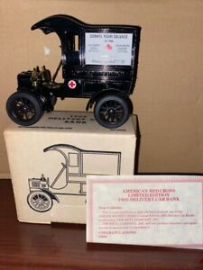 ERTL American Red Cross 1905 Ford Model T Delivery Car Bank 1/25  NEW #9685UA