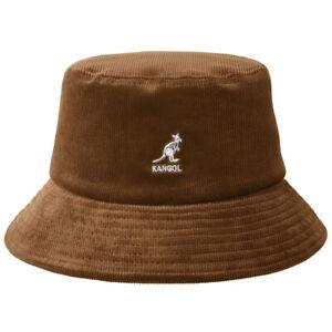Kangol Mens Cord Wood Brown Bucket Hat K4224HT