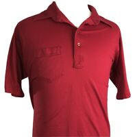 VTG RUSSELL ATHLETICS MENS S/S RED SINGLE STITCH USA MADE POLO SHIRT 2XL XXL
