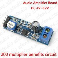 LM386 DC 5V 6V 12V Mini Audio Amplifier Board Micro Amp Module Adjustable HIFI