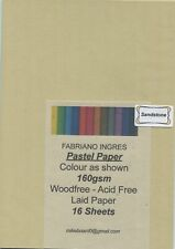 "A pack of 16 sheets ""  FABRIANO  ' INGRES '  PASTEL PAPER  "" Colour SANDSTONE"