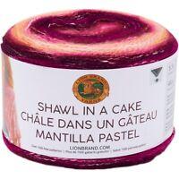 Lion Brand Shawl In A Cake Yarn-community Coral